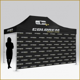 Pared personalizable para carpa tamaño 4,5x1,9 metros