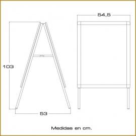 Caballete de Aluminio para gráfica 50x70 cm.