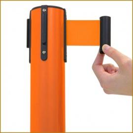 Poste Separador con Cinta Extensible Naranja. (Pack de 2 Unidades)