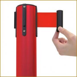 Poste Separador con Cinta Extensible Roja. (Pack de 2 Unidades)