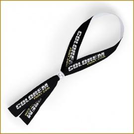 Pulsera cinta estrecha personalizada con cierre de bola