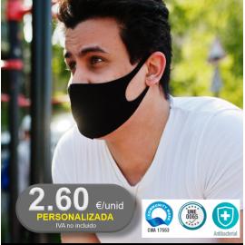 Mascarillas Reutilizables Homologadas y Personalizables Deportiva. Pedido mínimo 20 UNID