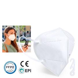 Mascarilla blanca con equivalencia a quirúrgica tipo IIR, certificado por laboratorios acreditados INTERTEK Y SGS. Caja 50 Und.