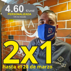 Mascarillas Reutilizables Homologadas y Personalizables.